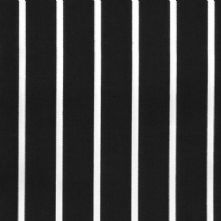 Half Price Butcher's Black and White Stripe Drill Fabric 150cm Wide x 0.5m